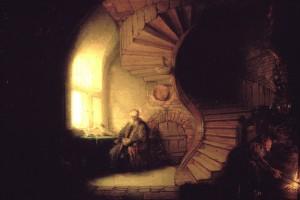 Rembrand---Philosophe-e-en-meditation--1632