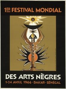 Affiche du Festival réalisée par l'artiste Sénégalais Ibrahima Diouf