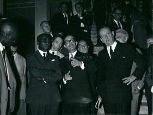 Léopold Sedar Senghor et André et André Malraux