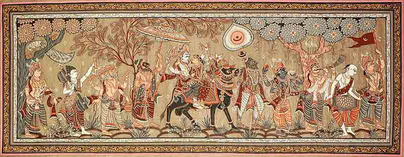 shiva_parvati_returning_after_marriage_with_indra_pj38-1