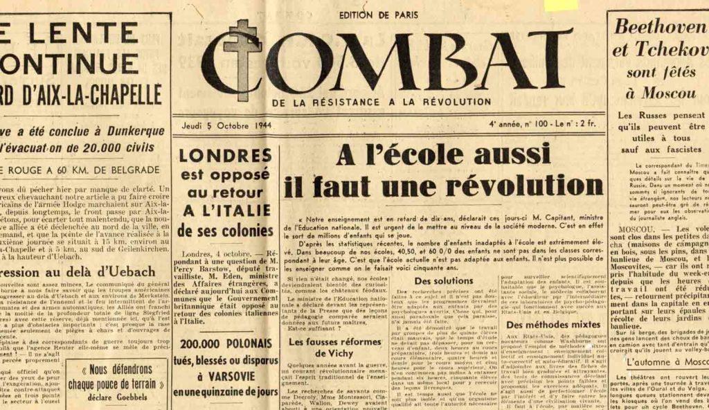 Image of L/4-5-6.10.44 — André Malraux, «Faire la guerre sans l'aimer», III-IV-V, «Combat», 4, 5 et 6 octobre 1944, p. 1 (III), 1 (IV), 1 (V).