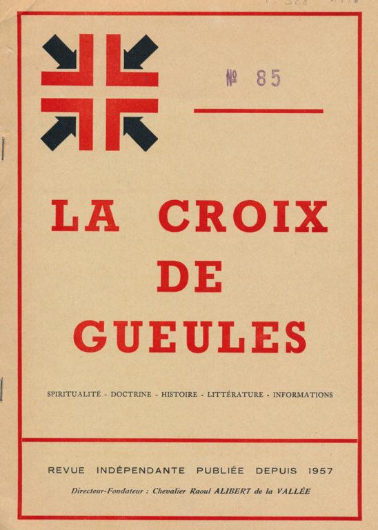 Image of «La Croix de Gueules», février-mars 1976, n° 85, p. 156. Chevalier Raoul Alibert de la Vallée: «André Malraux».