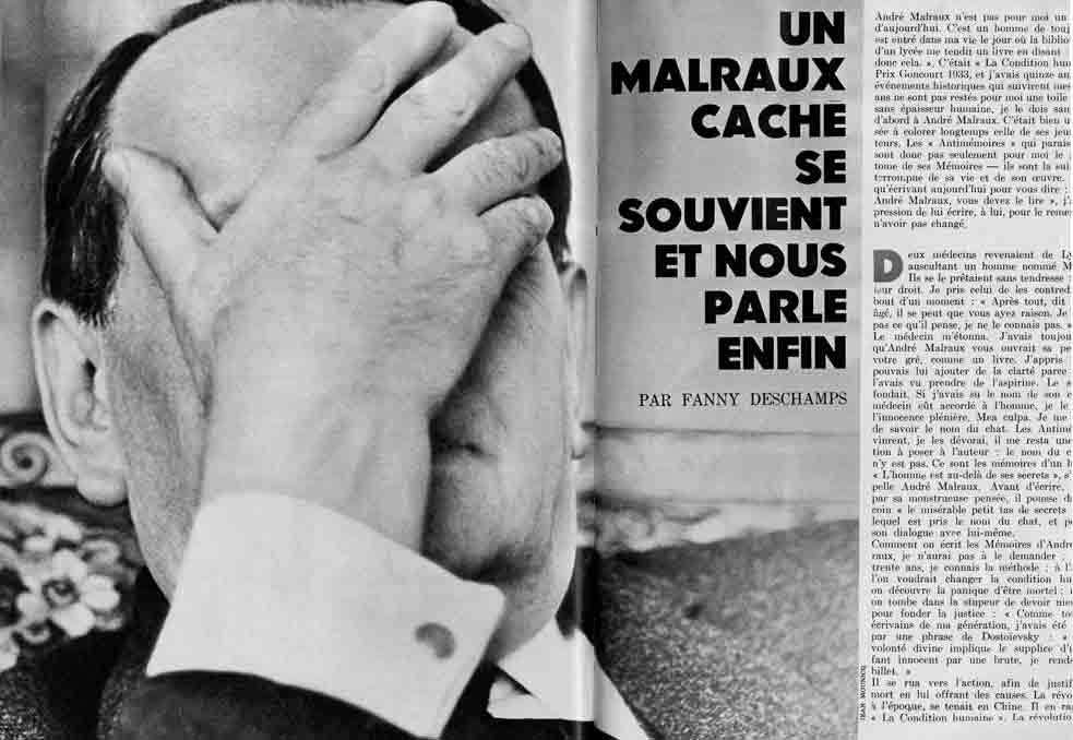 Image of «Elle», 28 septembre 1967, p. 83-84, 144. Fanny Deschamps: «Malraux caché se souvient et nous parle enfin.»