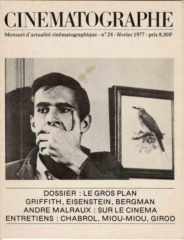 Image of L/1977.02 — André Malraux: «Esquisse d'une psychologie du cinéma», (extraits), «Cinématographe», février 1977, n° 24, p. 31-33.