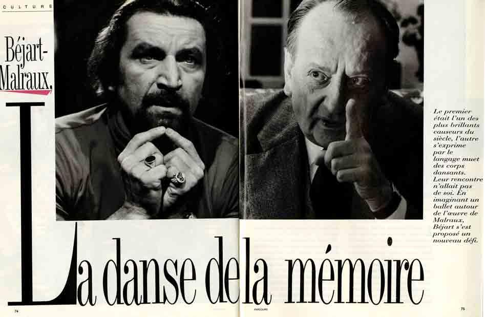Image of Brigitte Paulino-Neto: «Béjart-Malraux, la danse de la mémoire», Parcours, avril 1987, n° 1, p. 74-79.