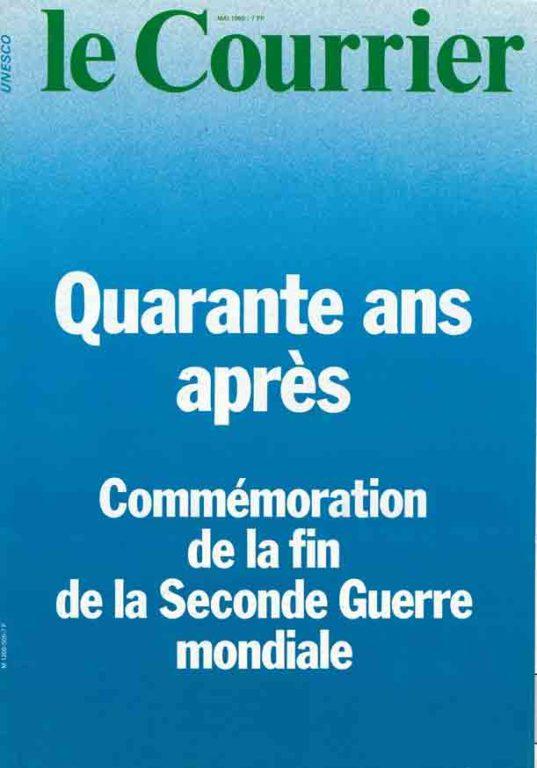 """Image of L/1985.05 — André Malraux: «""""C'était Lascaux"""" – Quand la résistance rencontre l'art», «Le Courrier», mai 1985, p. 8-9."""