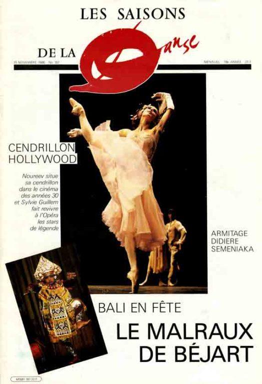 Image of Brigitte Hernandez: «Le Malraux de Béjart – Après Baudelaire, Nijinsky, Molière et Nietzsche Maurice Béjart s'attaque à un aventurier du XXe siècle», et Bernard Henri Lefort: «Malraux et la danse», «Les saisons de la danse», 15 novembre 1986, n° 187, p. 6-8.