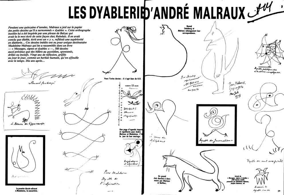 Image of Les dyableries d'André Malraux