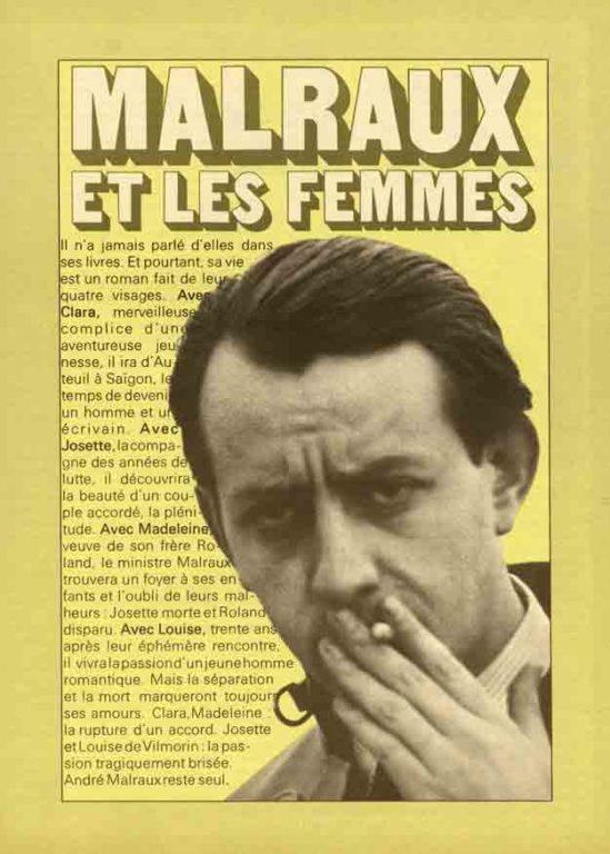 Image of Jacques-Arnaud d'Izarn: «Malraux et les femmes», «Ambre», 3 juin 1971, n° 8, p. 27-34.