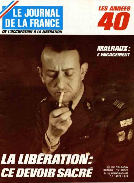 Image of Pierre Galante: «André Malraux et la Brigade Alsace-Lorraine», «Le Journal de la France», 23 octobre 1972, n° 175, p. 2237-2240.