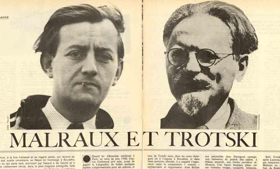 """Image of Jean Lacouture: «Malraux et Trotski – Extrait d'""""André Malraux, une vie dans le siècle""""», «Le Nouvel Observateur», 7 mai 1973, p. 78-81, 84, 89, 92, 97, 100, 105, 108, 113-114."""