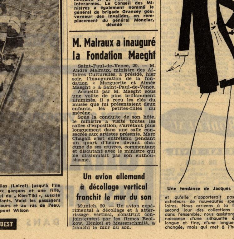 Image of 29 juillet 1964 : l'inauguration de la Fondation Maeght.